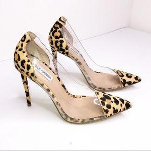 Steve Madden Leopard Print Clear Heels